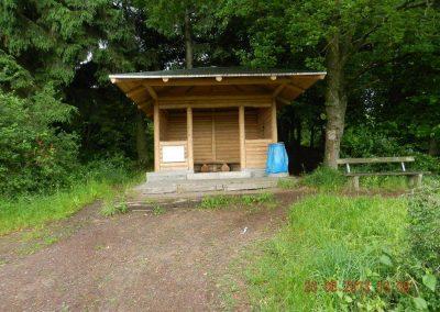 Traumpfad, Gänsehalshütte mit Grillplatz